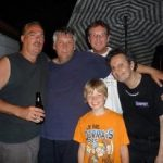 Denis Champagne & Pierre Lemoyne ( Prog Core Radio ), Alain & Dominique Champagne avec / with Jim Zeller ( Montreal, Juin 2009 )